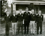 F.F.A. boys outside off campus location in 1959