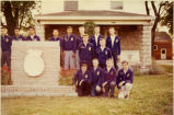 F.F.A. boys outside the off campus location in 1959