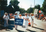 League of Women Voters in Old Settlers Days parade in 1998